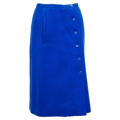 1970s Courreges Royal Blue Aline Skirt