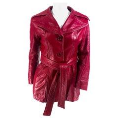 1970s Cranberry leather Jacket