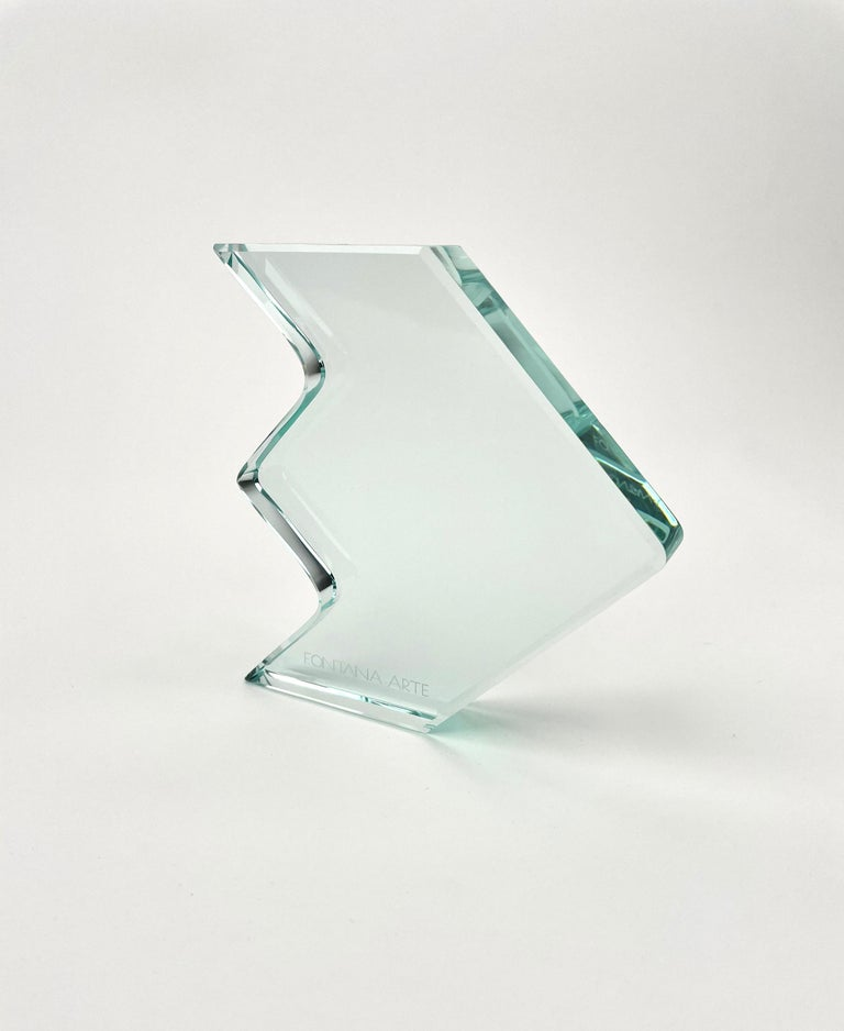 1970s Crystal Paperweight Sculpture by Fontana Arte for ISTUD, Italy For Sale 4