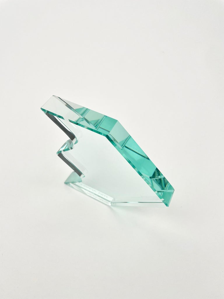 1970s Crystal Paperweight Sculpture by Fontana Arte for ISTUD, Italy For Sale 5