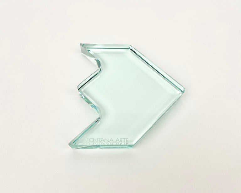 Italian 1970s Crystal Paperweight Sculpture by Fontana Arte for ISTUD, Italy For Sale