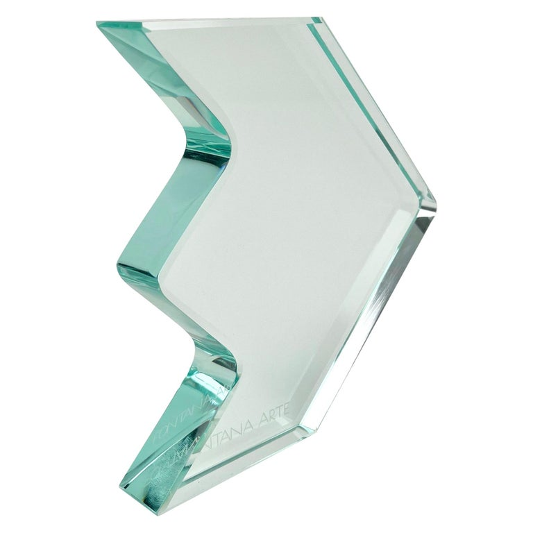 1970s Crystal Paperweight Sculpture by Fontana Arte for ISTUD, Italy For Sale