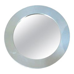 1970s Curtis Jere Round Mirror with Chrome Frame
