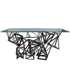 1970s Custom Geometric Metal Table