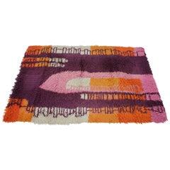 1970s Danish Abstract Midcentury Wool Rug