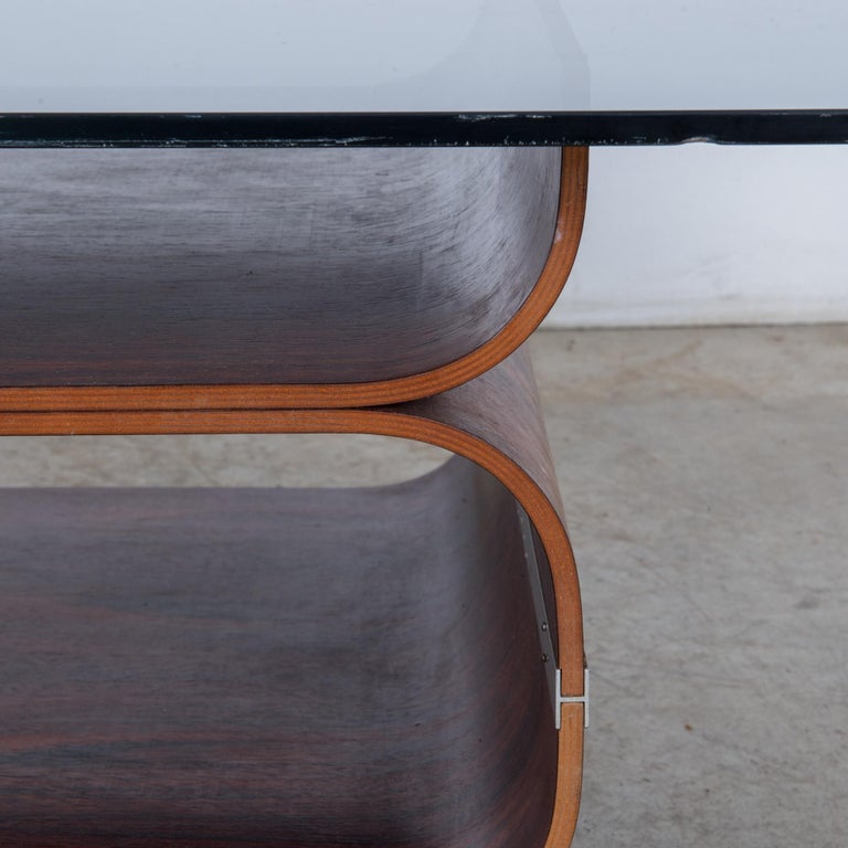 Glass 1970s Danish Coffee Table For Sale