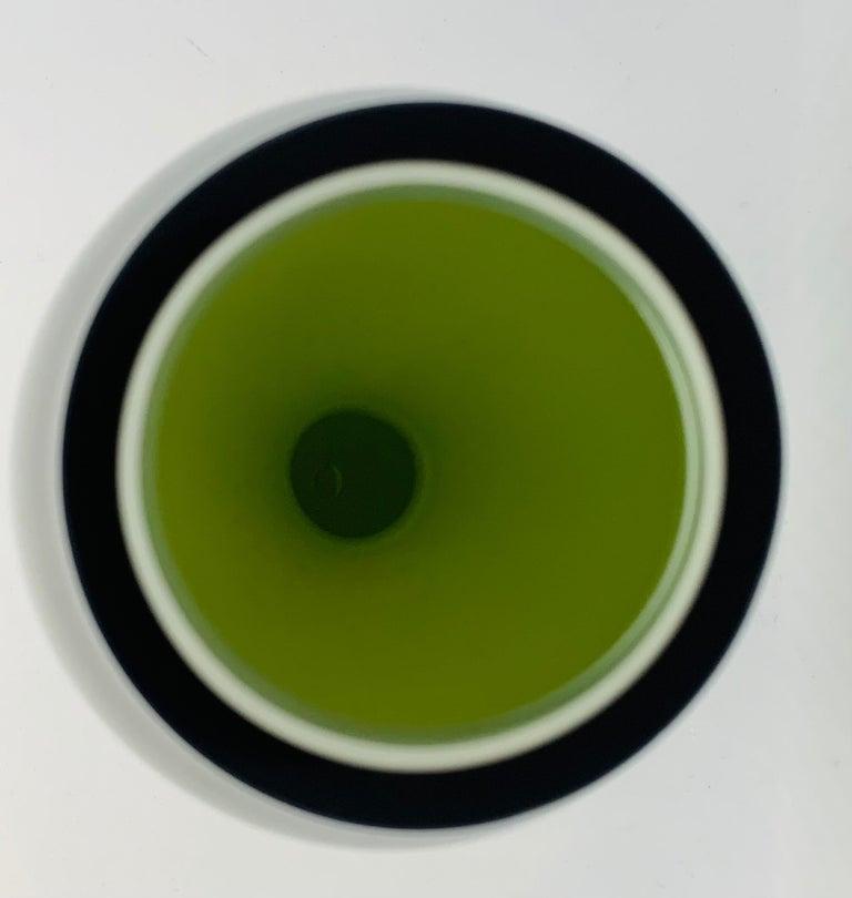1970s Danish Hand Blown Holmegaard Encased Green Glass Hourglass Shaped Vase For Sale 6