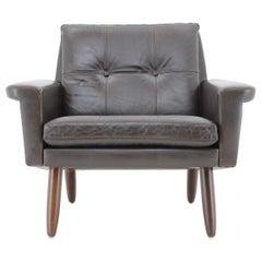 1970s Danish Leather Lounge Chair