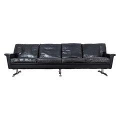 1970s Danish Modern Leather Sofa