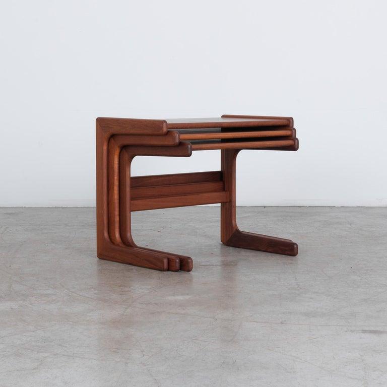 Scandinavian Modern 1970s Danish Modern Nesting Tables, Set of 3 For Sale