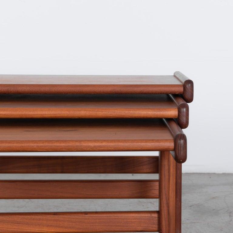 Teak 1970s Danish Modern Nesting Tables, Set of 3 For Sale
