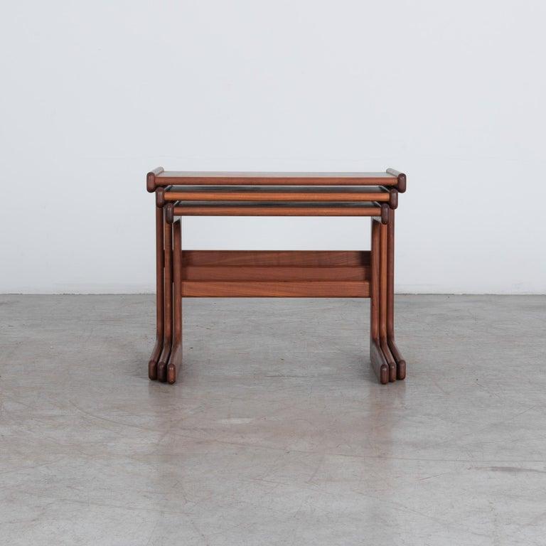 1970s Danish Modern Nesting Tables, Set of 3 For Sale 1
