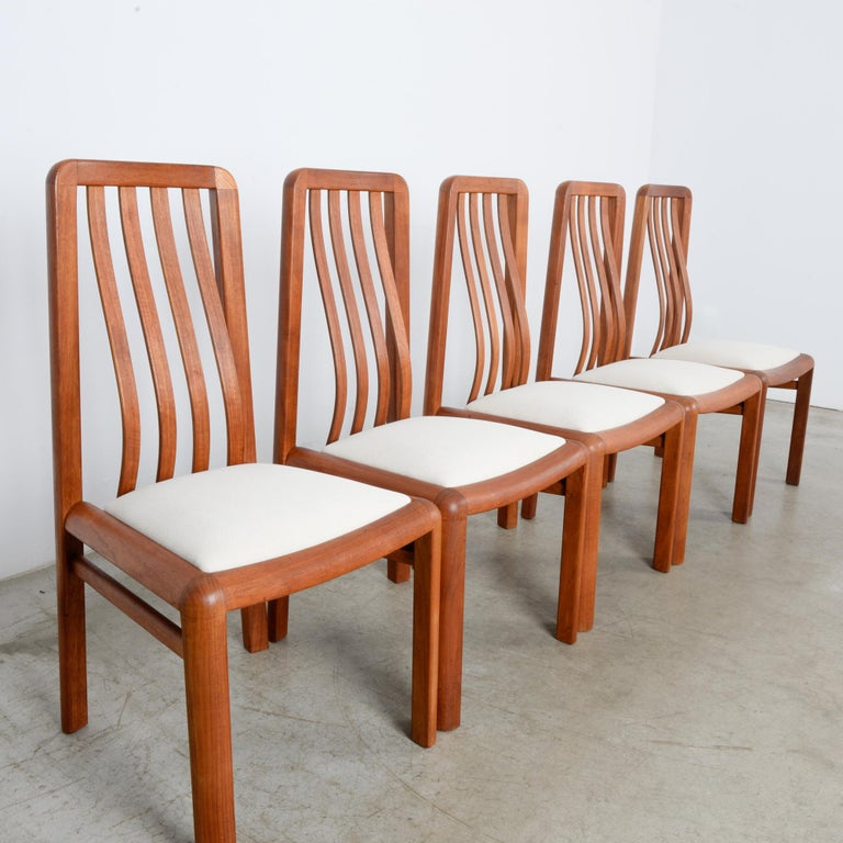 1970s Danish Modern Teak Dining Chairs, Set of Five For Sale 5