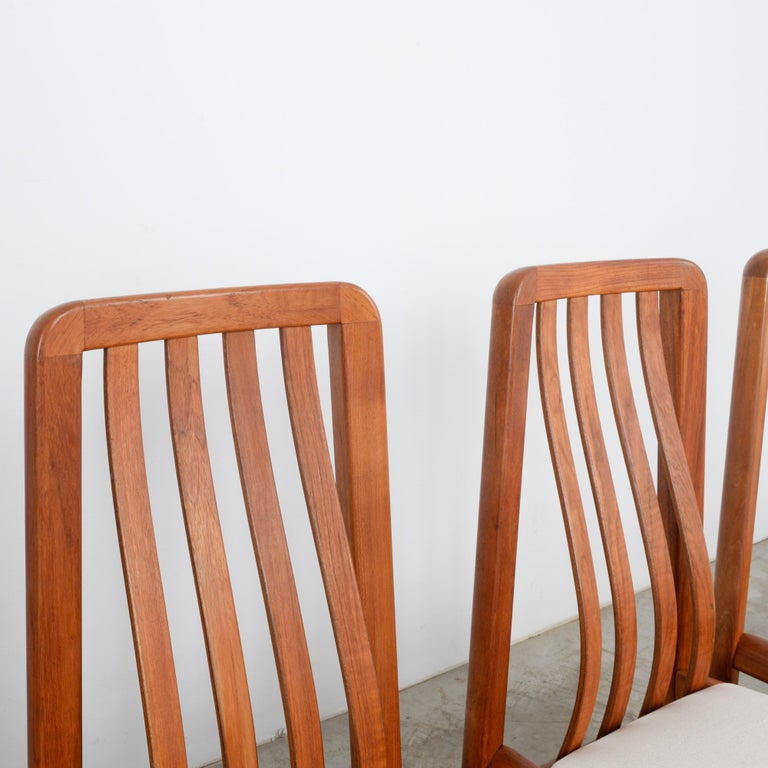 1970s Danish Modern Teak Dining Chairs, Set of Five For Sale 6