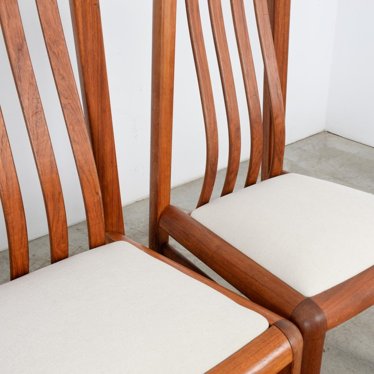 1970s Danish Modern Teak Dining Chairs, Set of Five For Sale 8