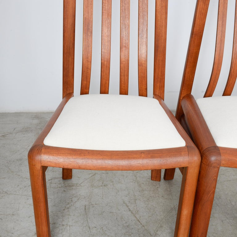 1970s Danish Modern Teak Dining Chairs, Set of Five For Sale 9