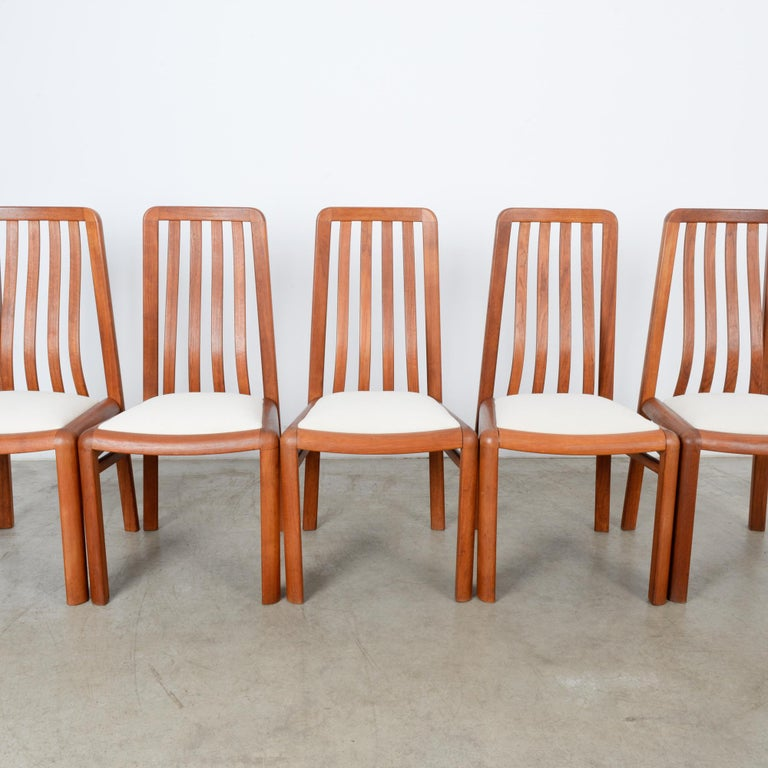 1970s Danish Modern Teak Dining Chairs, Set of Five For Sale 10