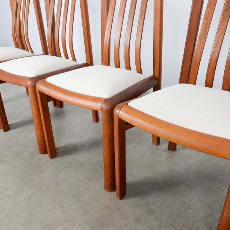 1970s Danish Modern Teak Dining Chairs, Set of Five For Sale 11