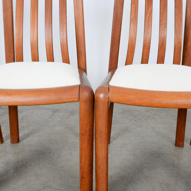 1970s Danish Modern Teak Dining Chairs, Set of Five For Sale 13