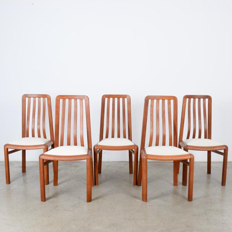 Scandinavian Modern 1970s Danish Modern Teak Dining Chairs, Set of Five For Sale