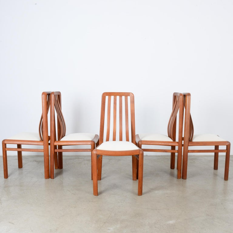 Late 20th Century 1970s Danish Modern Teak Dining Chairs, Set of Five For Sale