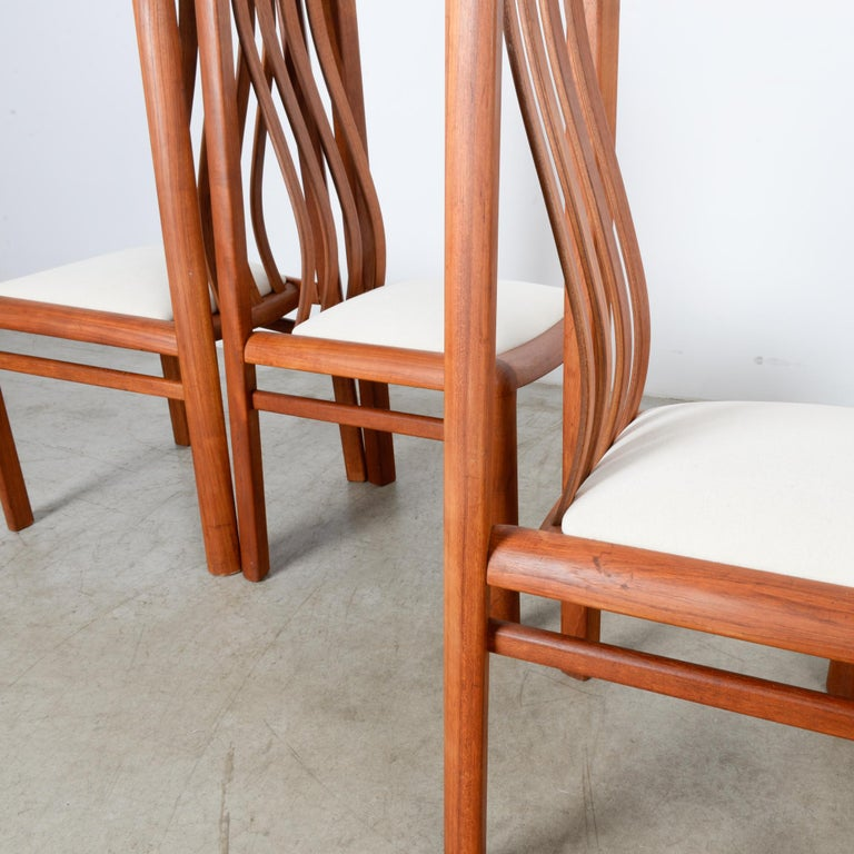 1970s Danish Modern Teak Dining Chairs, Set of Five For Sale 2