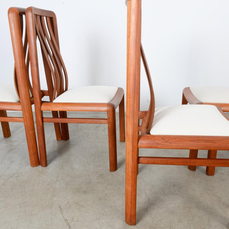 1970s Danish Modern Teak Dining Chairs, Set of Five For Sale 3