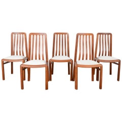 1970s Danish Modern Teak Dining Chairs, Set of Five