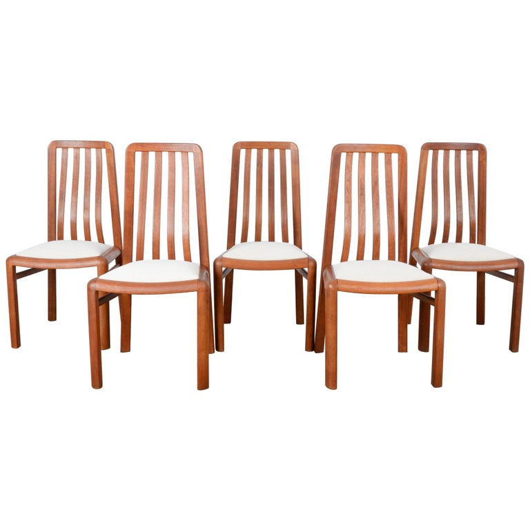 1970s Danish Modern Teak Dining Chairs, Set of Five For Sale