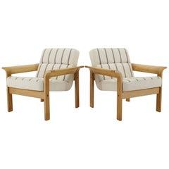 1970s Danish Oak Lounge Chair by Thygesen & Sørensen for Magnus Olesen