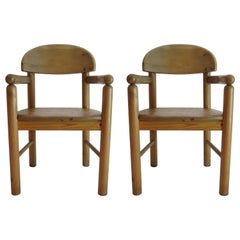 1970s Danish Pine Carver Dining Chair Rainer Daumiller Hirtshals 2 available