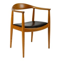 1970s Danish Round Chair by Hans J. Wegner for Johannes Hansen