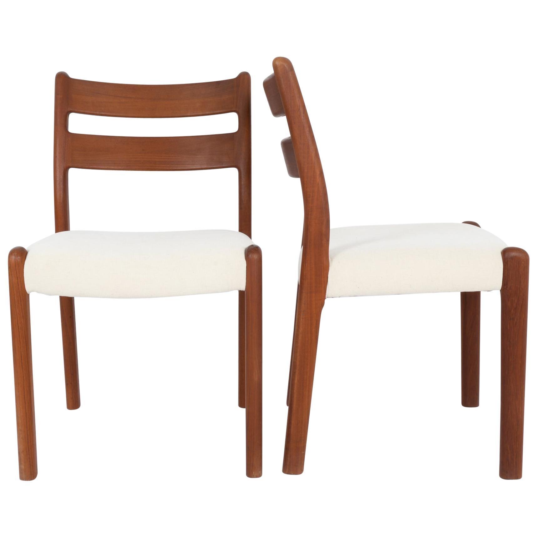 1970s Danish Teak Chairs, a Pair