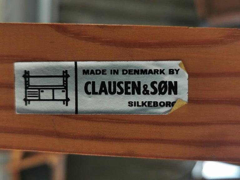 Scandinavian 1970s Danish Teak Extending Dining Table by Clausen & Son Midcentury For Sale