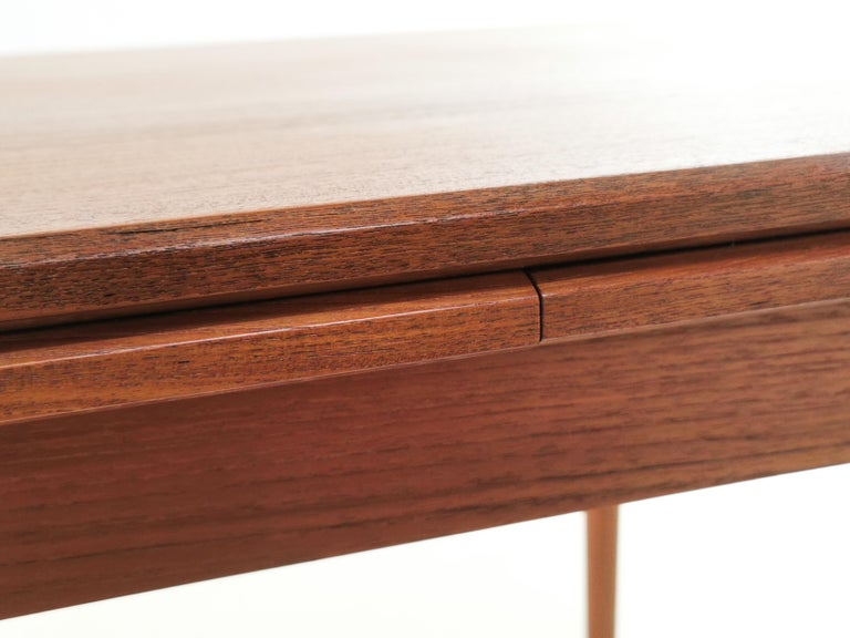 20th Century 1970s Danish Teak Extending Dining Table by Clausen & Son Midcentury For Sale