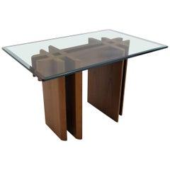 1970s Danish Teak Glass Top Side Table Gustav Gaarde for Trekanten Hestbæk
