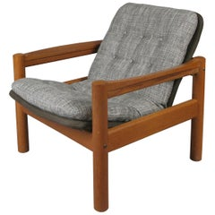 1970s Danish Teak Lounge Chair by Domino Møbler
