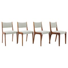 1970s Danish Teak Upholstered Dining Chairs, Set of Four