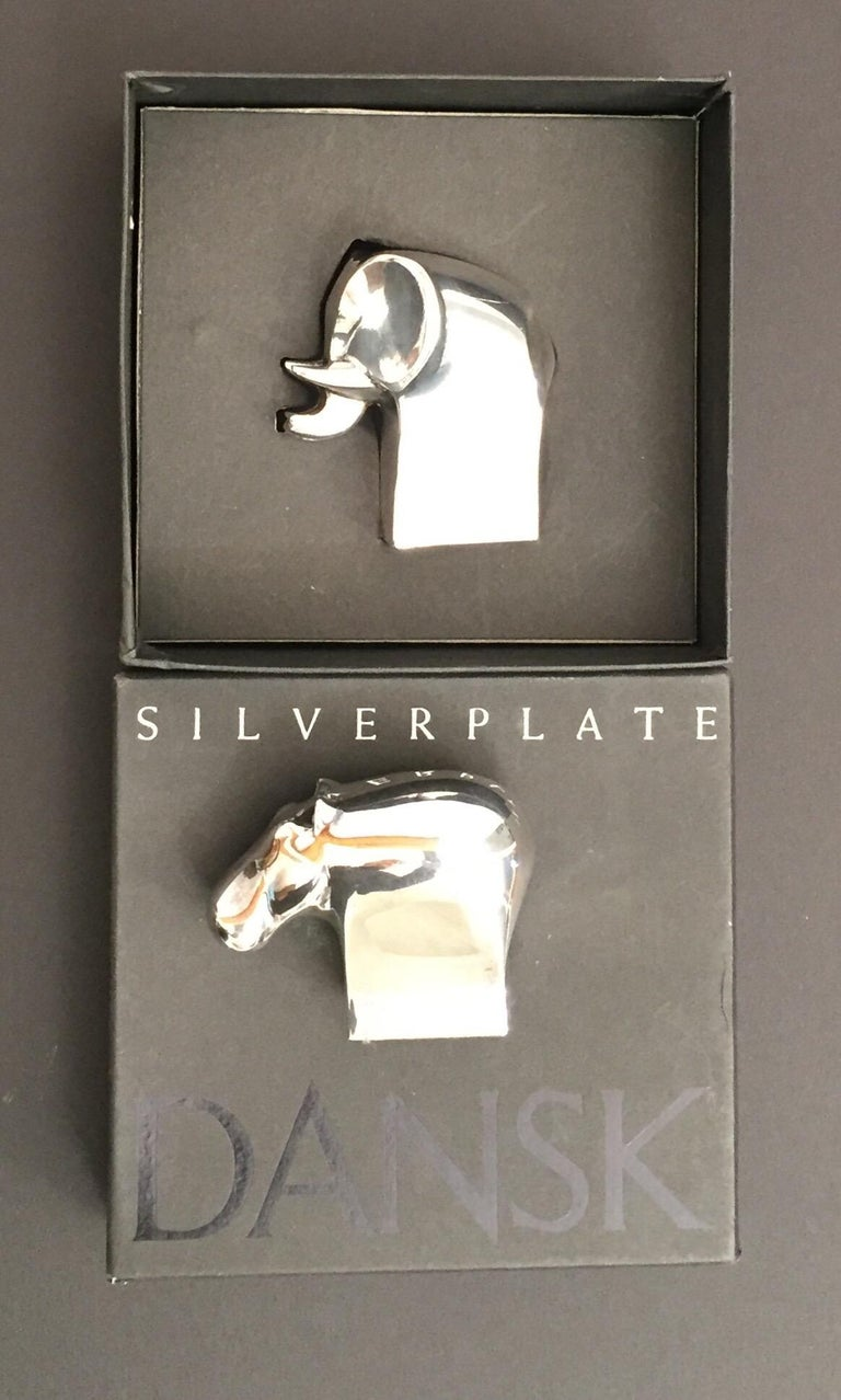 1970s Dansk Animals Paperweights Silver Plated by Gunnar Cyren For Sale 6