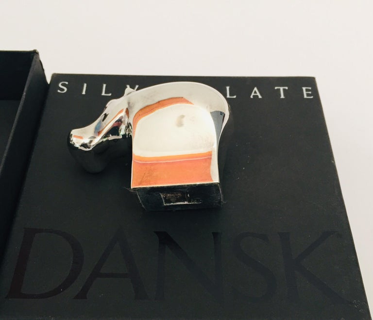 1970s Dansk Animals Paperweights Silver Plated by Gunnar Cyren For Sale 7
