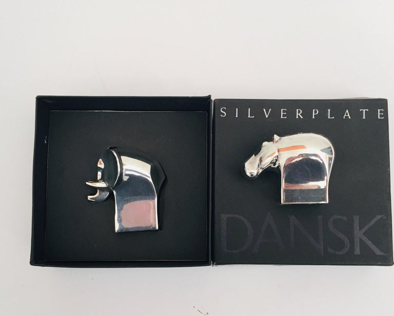 1970s Dansk Animals Paperweights Silver Plated by Gunnar Cyren For Sale 10
