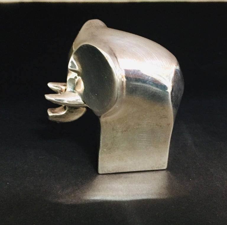 20th Century 1970s Dansk Animals Paperweights Silver Plated by Gunnar Cyren For Sale
