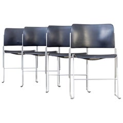 1970s David Rowland 40/4 Stacking Chair Metal for OFS Set of Four