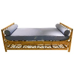 1970s Daybed in Bamboo and Brass Details
