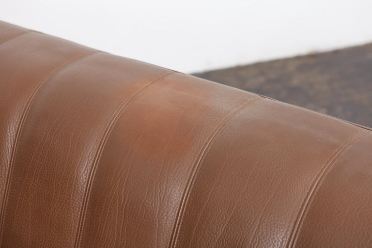 1970s De Sede Leather 3-Seat Sofa 'Model DS 44' from Switzerland For Sale 5