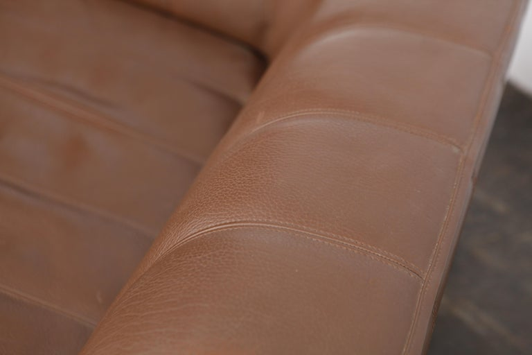 1970s De Sede Leather 3-Seat Sofa 'Model DS 44' from Switzerland For Sale 6