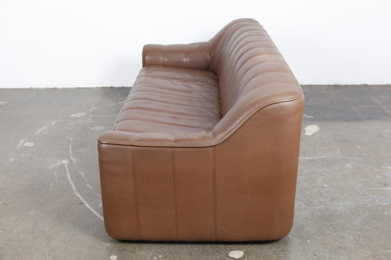 Late 20th Century 1970s De Sede Leather 3-Seat Sofa 'Model DS 44' from Switzerland For Sale