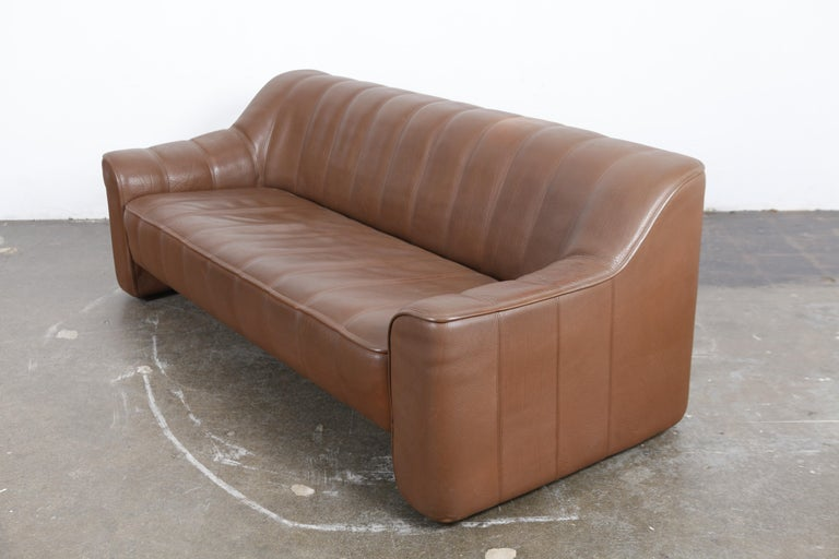 1970s De Sede Leather 3-Seat Sofa 'Model DS 44' from Switzerland For Sale 1