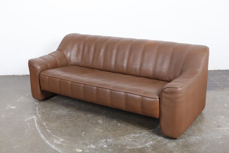 1970s De Sede Leather 3-Seat Sofa 'Model DS 44' from Switzerland For Sale 3