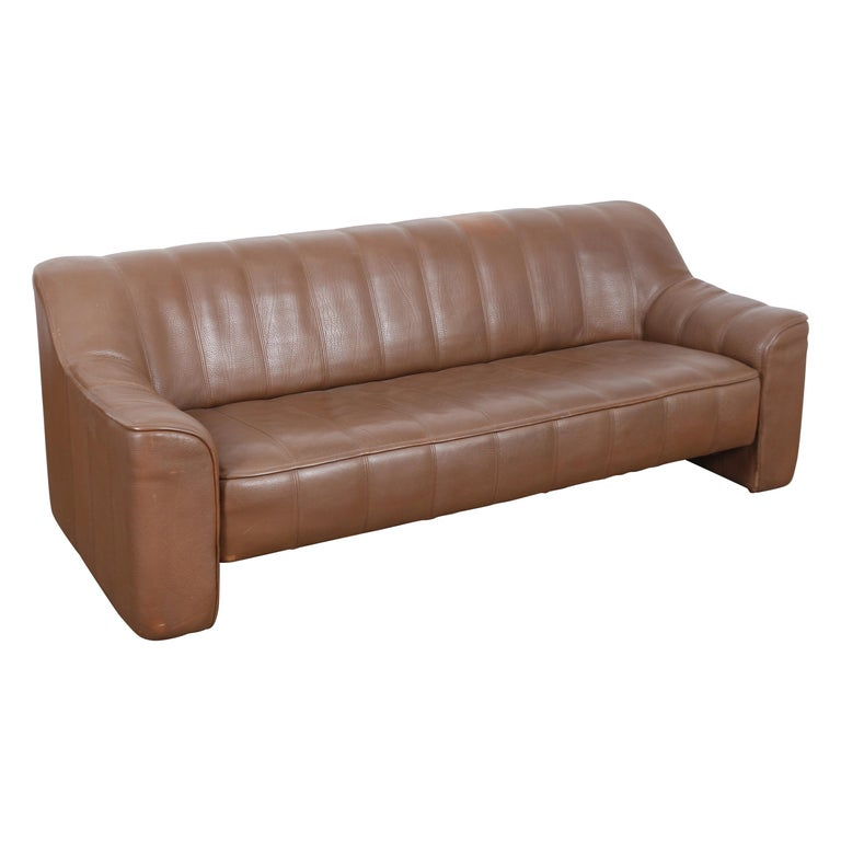 1970s De Sede Leather 3-Seat Sofa 'Model DS 44' from Switzerland For Sale